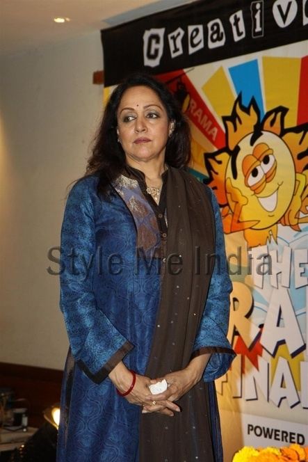 Hema Malini encourages children at Raheja Classic Summer Camp http://shar.es/smZeK via