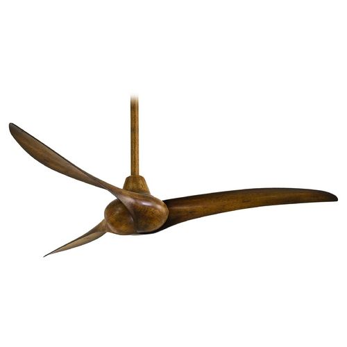 Ceiling Fan Without Light in Distressed Koa Finish | F843-DK | Destination Lighting