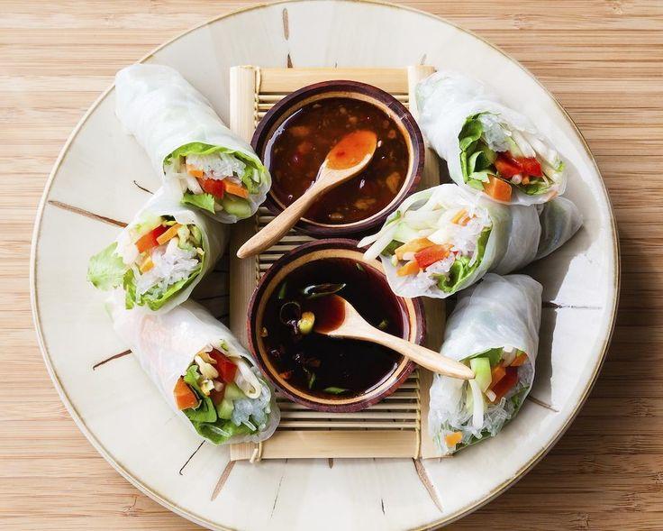 Experiment culinar | Cina sanatoasa: rulouri de primavara cu creveti #andreearaicu
