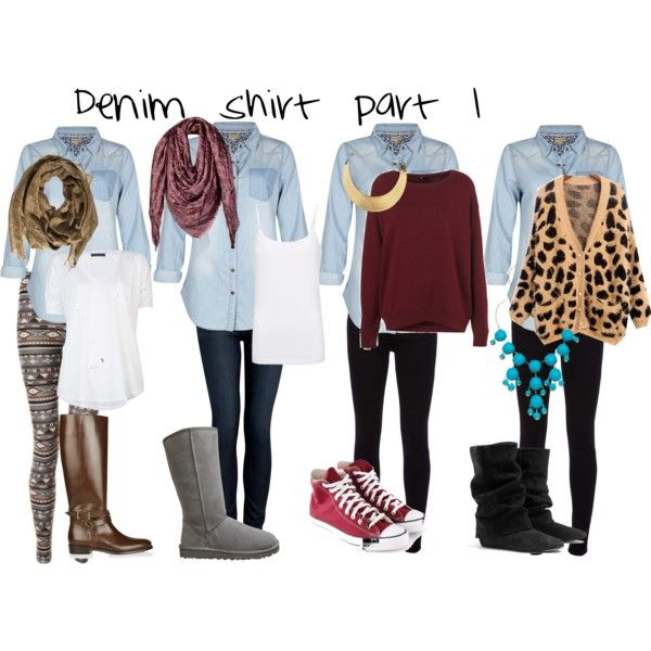 Denim shirt outfits #1 - Polyvore