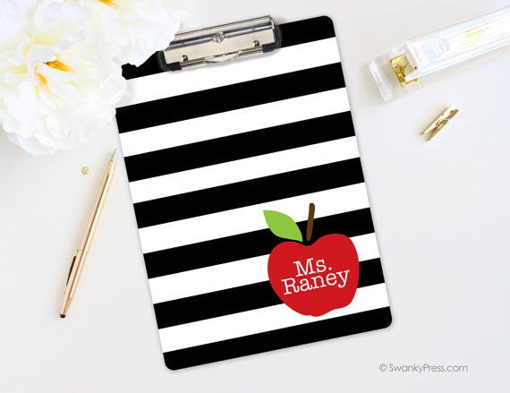 Teacher Clipboard  Teacher Gift  Apple Clipboard  by swankypress