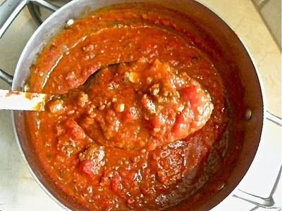 Homemade, made from scratch Spaghetti SAUCE....but can take as little as 30 minutes!