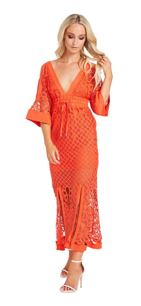 Corfu Maxi Dress (orange) - Miss G