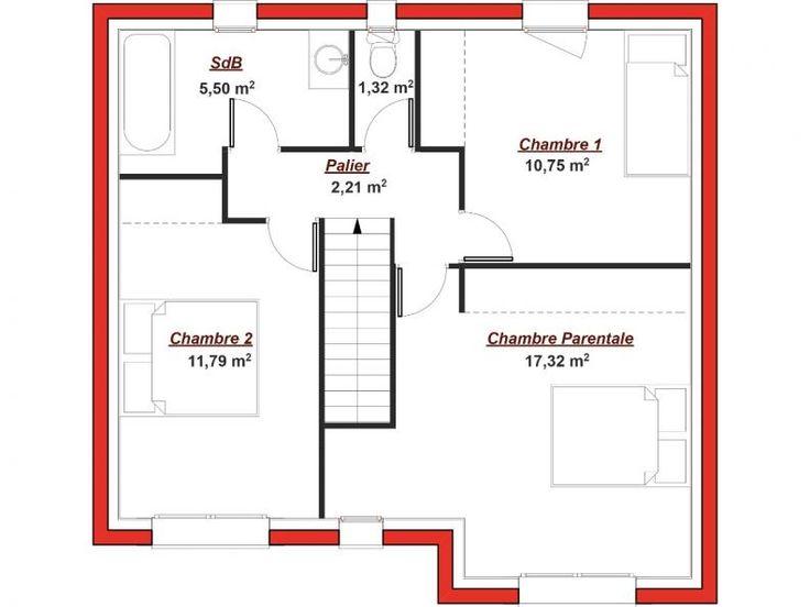 Plan tage iena 102 cette maison en l poss de une petite for Plan suite parentale 35m2