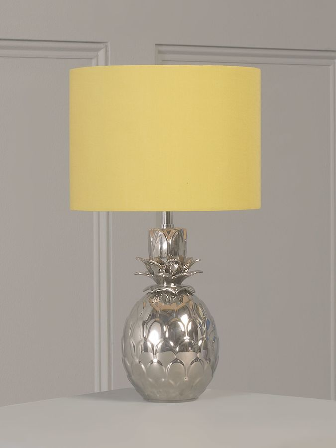 This Bright Sunshine Yellow Lampshade Really Works With The Lovely Pinele Lamp Base It S Perfect I Love Grey Wall Too