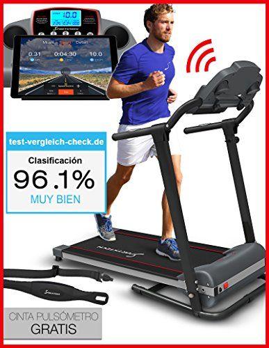 nice Pasa el ratón por encima de la imagen para ampliarla Caminadora Sportstech F10 con aplicación de control Smartphone, cinta de pulso incluida, superficie extra grande para correr, Bluetooth, 1HP, 10KM/H, para caminar y correr con 13 programas