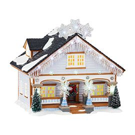 "Department 56 - Snow Village - ""The Snowflake House"" - #4044854 - Intro: Jan, 2015 - $140 USD"