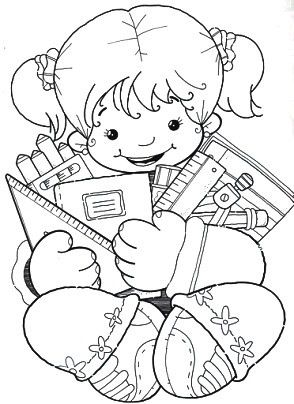 Κορίτσι με εξοπλισμό για το σχολείο