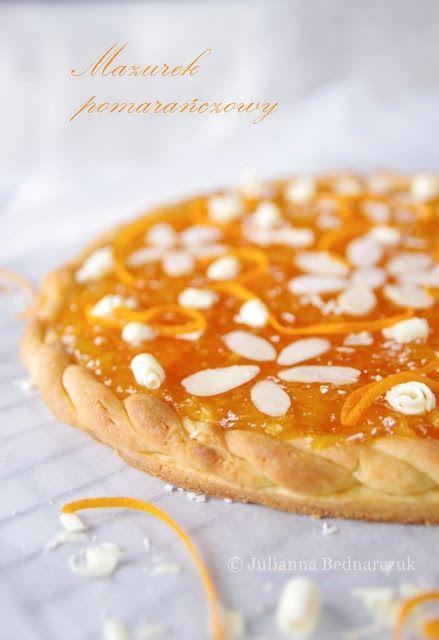 Obiad gotowy!: Mazurek pomarańczowy z białą czekoladą