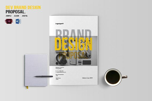 DEV Brand Design Proposal Template by BizzCreatives on @creativemarket