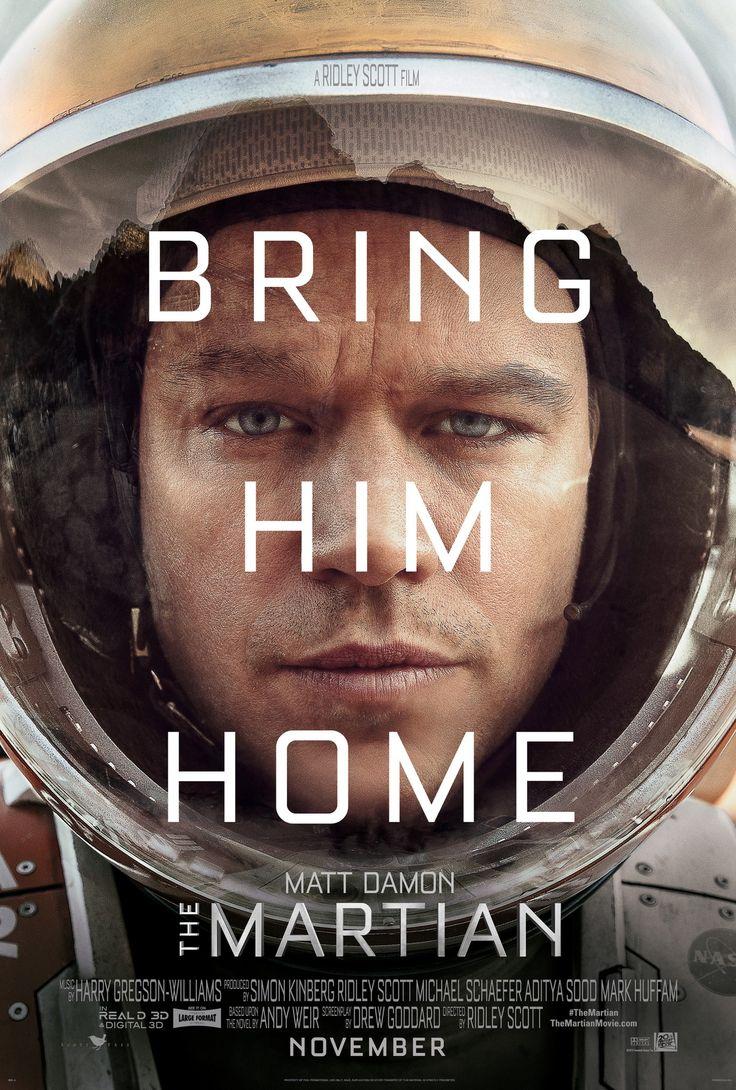 Okładka filmu Marsjanin Ridleya Scotta z Mattem Damonem w roli głównej