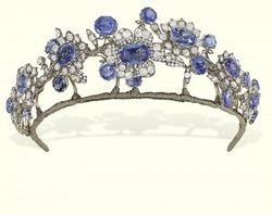 In France, the Revolution had put an end to rich displays of jewelry. With Napoleon III as emperor and his marriage to Eugenie de Montijo in 1853, the grandeur of court in France was revived. The empress was the recipient of the remodeled crown jewels and she led the way for a revival of tiaras and parures of magnificent jewelry in France.