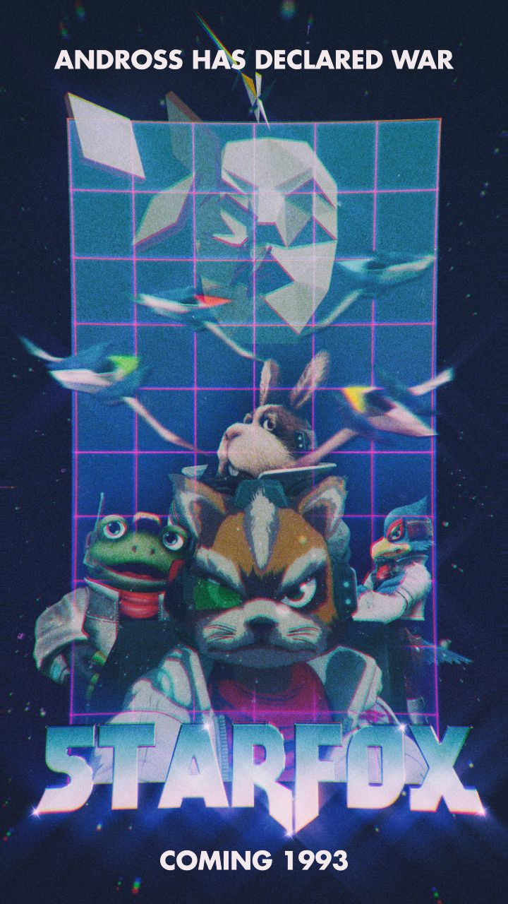 I made a retro styled Star Fox poster.