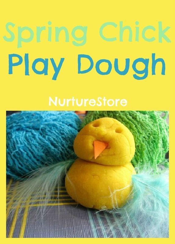 A great play dough recipe for spring: make some spring chicks!