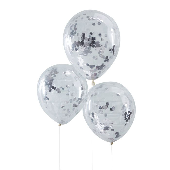 Confetti ballonnen zilver Pick & Mix