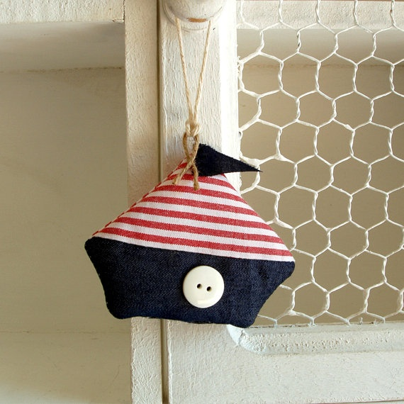 Small fabric boats ready to sail away set of 2 by paninohome, $12.00