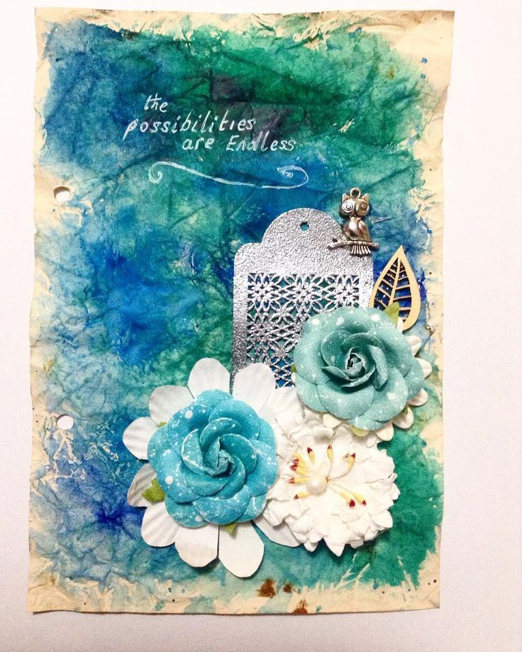 My Inspiration Art Journal page, The possibilities are endless.