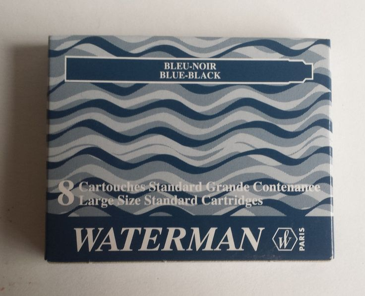 #collectible vintage Waterman fountain pen 1 pack 8 cartridges BLUE-BLACK color ink NIB withing our EBAY store at  http://stores.ebay.com/esquirestore