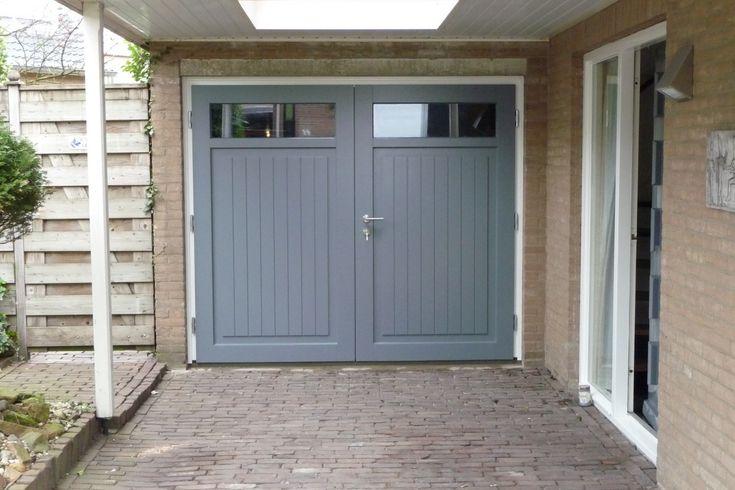 Afbeeldingsresultaat voor garagedeur hout