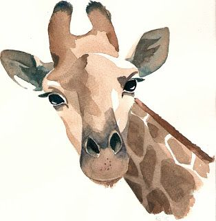 Aquarell Illustration Giraffe