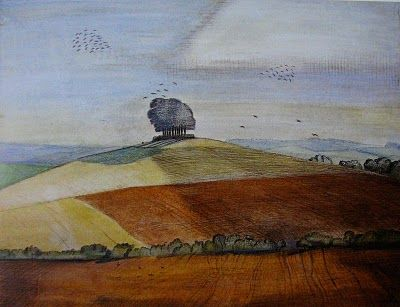 Paul Nash, Wittenham Clumps.  A British surrealist painter and war artist…