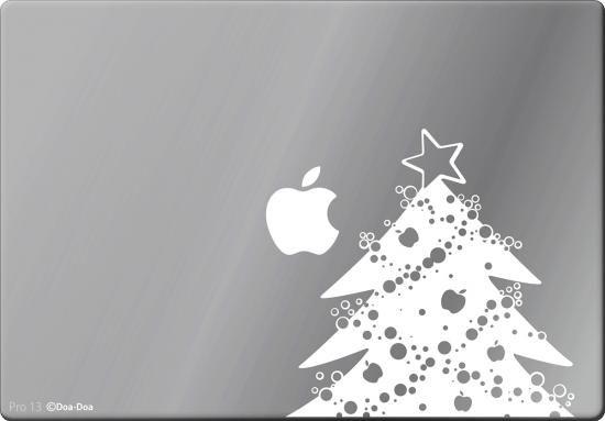 全MacBook対応 アートステッカー クリスマスツリー 白 限定商品 - 貼ってはがせるアートステッカー、ウォールステッカーの輸入販売│Wolfing