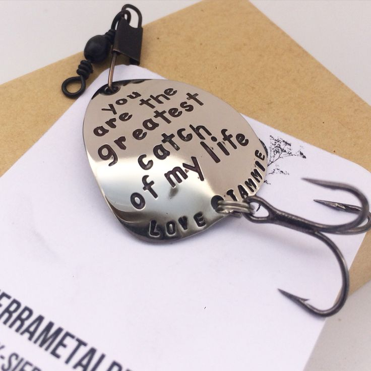 Personalized Fishing Lure You are the greatest catch of my life romantic gift for him for her anniversary gift Christmas gift boyfriend husband engagement prop www.sierrametaldesign.com
