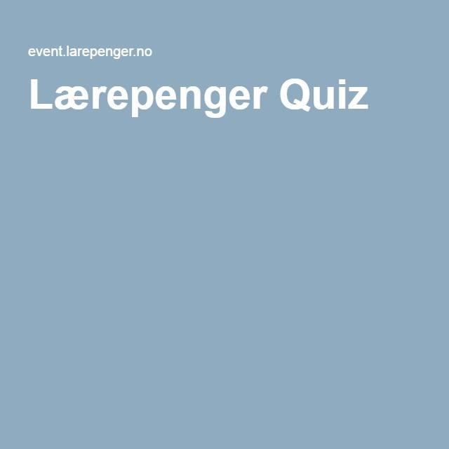 Lærepenger Quiz