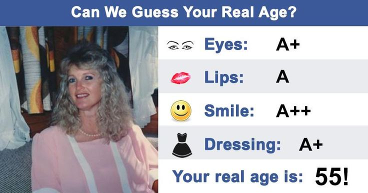 Can We Guess Your Real Age?