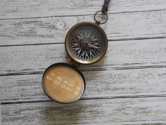 Working Compass Necklace |Get it engraved with your favorite travel quotes or coordinates to your favorite destination. Etsy, $28.