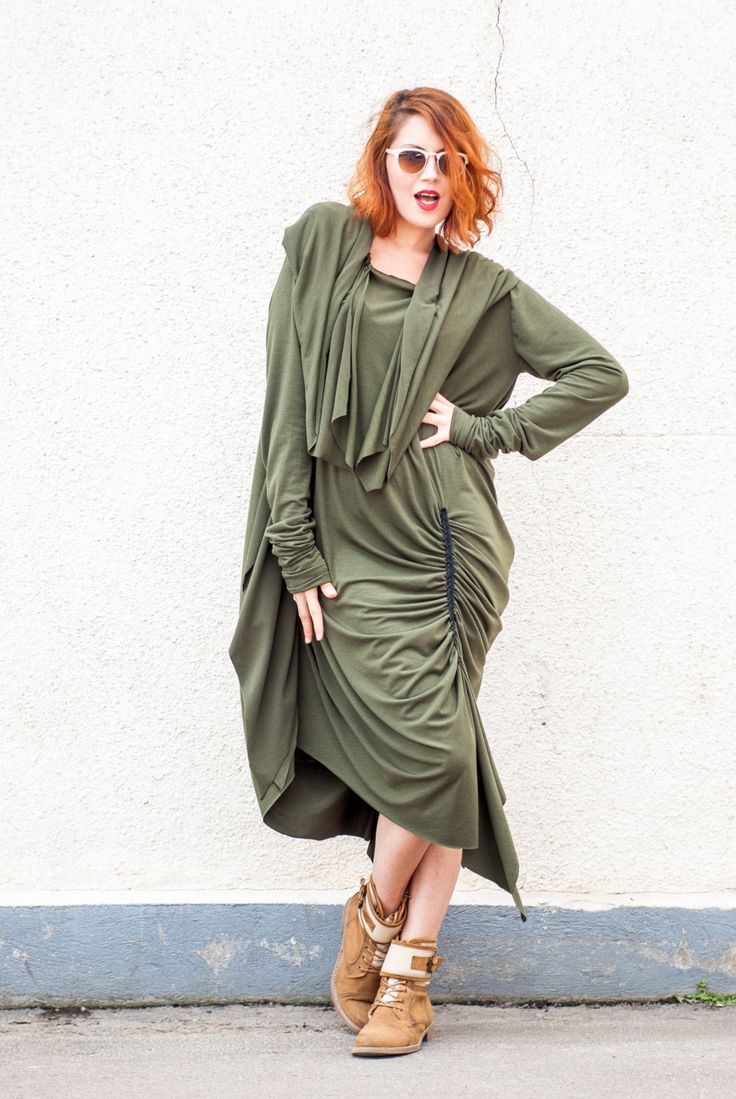 Military Dress, Army Hooded Tunic, Military Hoodie, Street Military Dress TDK16, Green Hooded Maxi Dress, Green Hoodie by TEYXO https://www.etsy.com/listing/167799212/military-dress-army-hooded-tunic?utm_campaign=crowdfire&utm_content=crowdfire&utm_medium=social&utm_source=pinterest