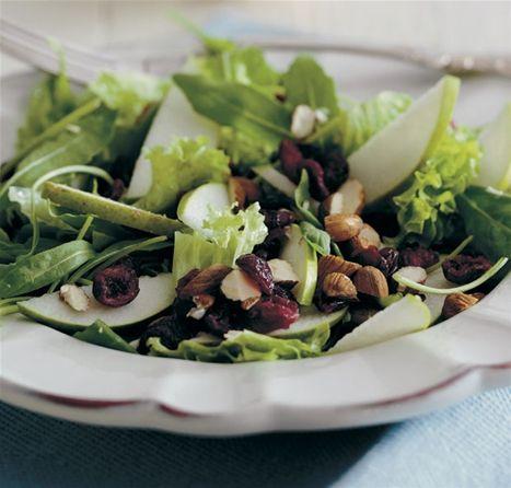 Salat med tranebær og pærer