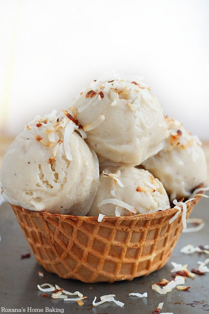 Cool down with this Roasted Banana Coconut Ice Cream!