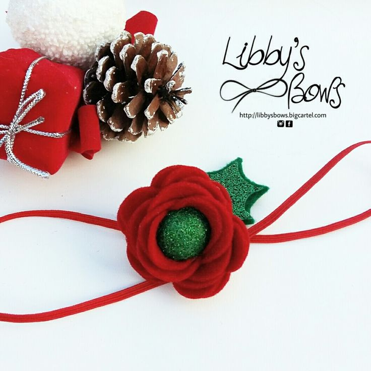 Beautiful Red Rose with a sparkly green centre and leaf on a super soft nylon headband. (one size fits all)Please note : item colours