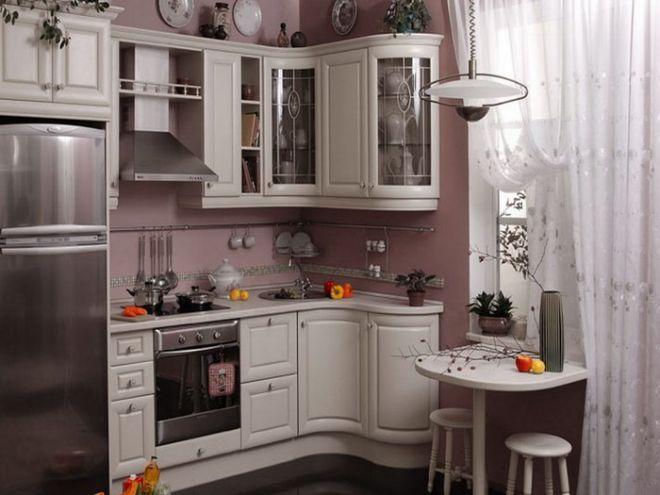 Угловой гарнитур: умное решение для маленькой кухни