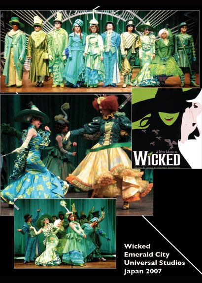 Emerald City Wicked Costumes | Wicked Emerald City Universal Japan