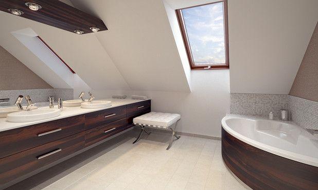 Łazienka na poddaszu, pozwala na chwilę relaksu i odprężenia :)