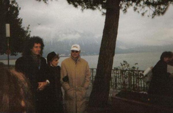 Brian, Anita and Roger, Montreux - 25 November 1996