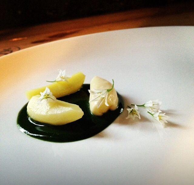 Potato , Wild Garlic Cream , Sauce of Wild Garlic