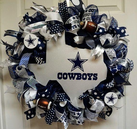 Dallas Cowboys Wreath Cowboys Wreath by Texascaseyscreations