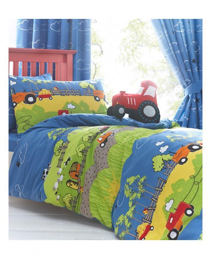 Hilltop Farm Single Duvet Cover and Pillowcase Set