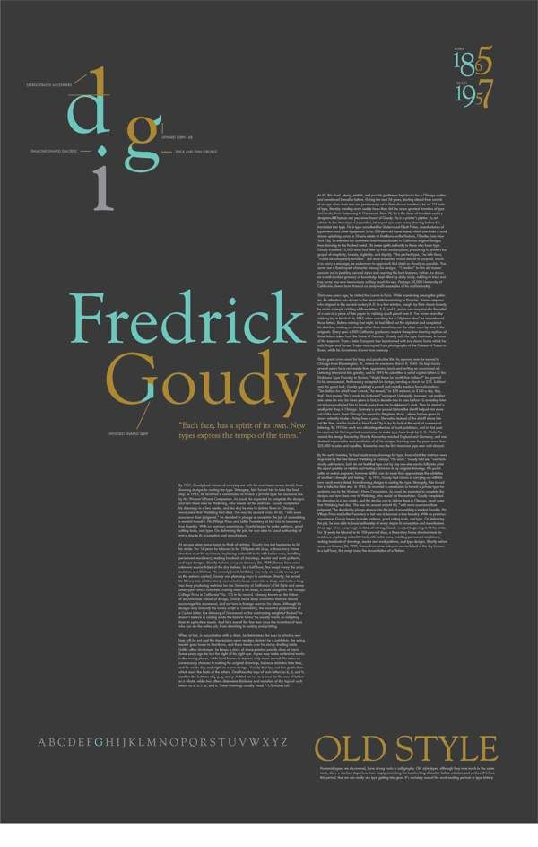 Good sense of hierarchy and typography.  Font Study by Kristen McGriff, via Behance