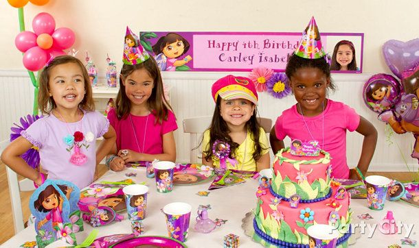 Dora Birthday Party Movie Image Inspiration of Cake and Birthday