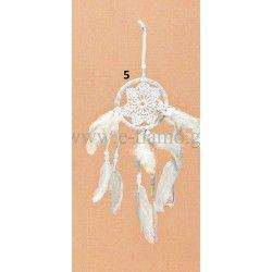 Διακοσμητική Ονειροπαγίδα  Λευκή Δαντέλα Στολισμού Γάμου ή Βάπτισης Φ12cm
