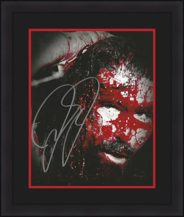 """WWE Mick Foley Cactus Jack Wrestling Autographed 8"""" x 10"""" Framed and Matted Photo"""