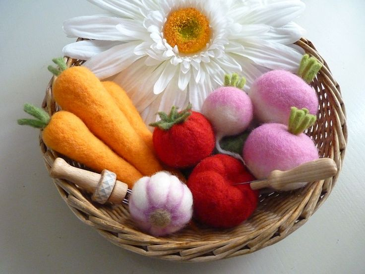 Panier de legumes feutres o merveille