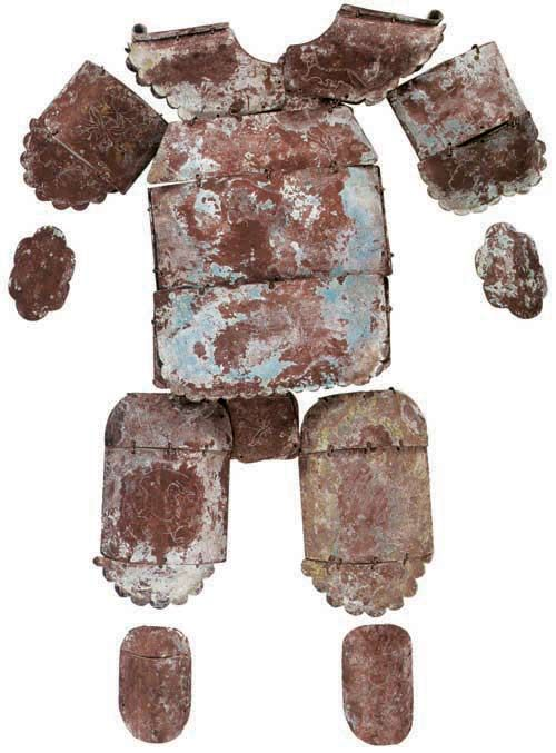 A rare bronze plate armour found at Inner Mongolia, either belonged to the Mongols or ancient Xiongnu.