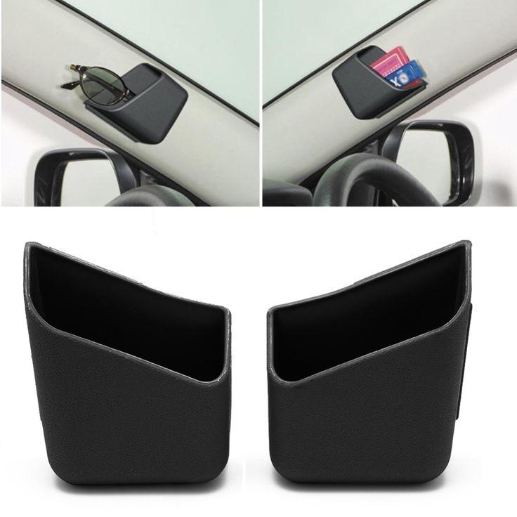 Kris 2pcs Universal Car Auto Accessories Glasses Organizer Storage Box Holder Black
