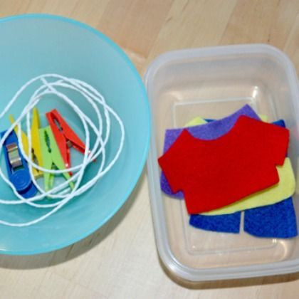 Make a Felt Clothesline Game
