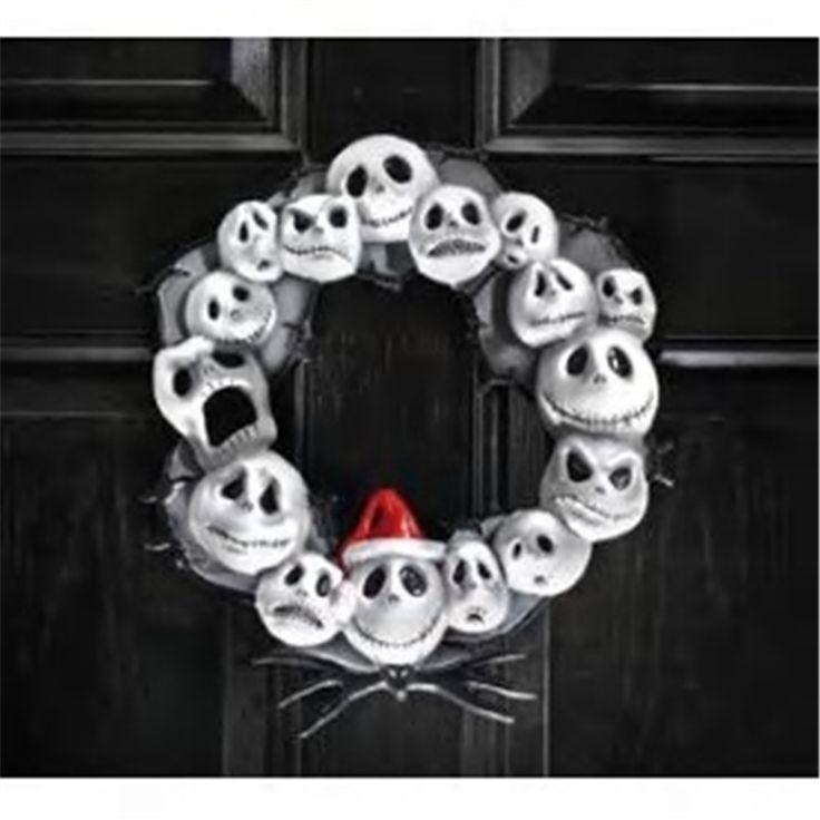 Nightmare Before Christmas Door Wreath #Nightmare Before Christmas accessories